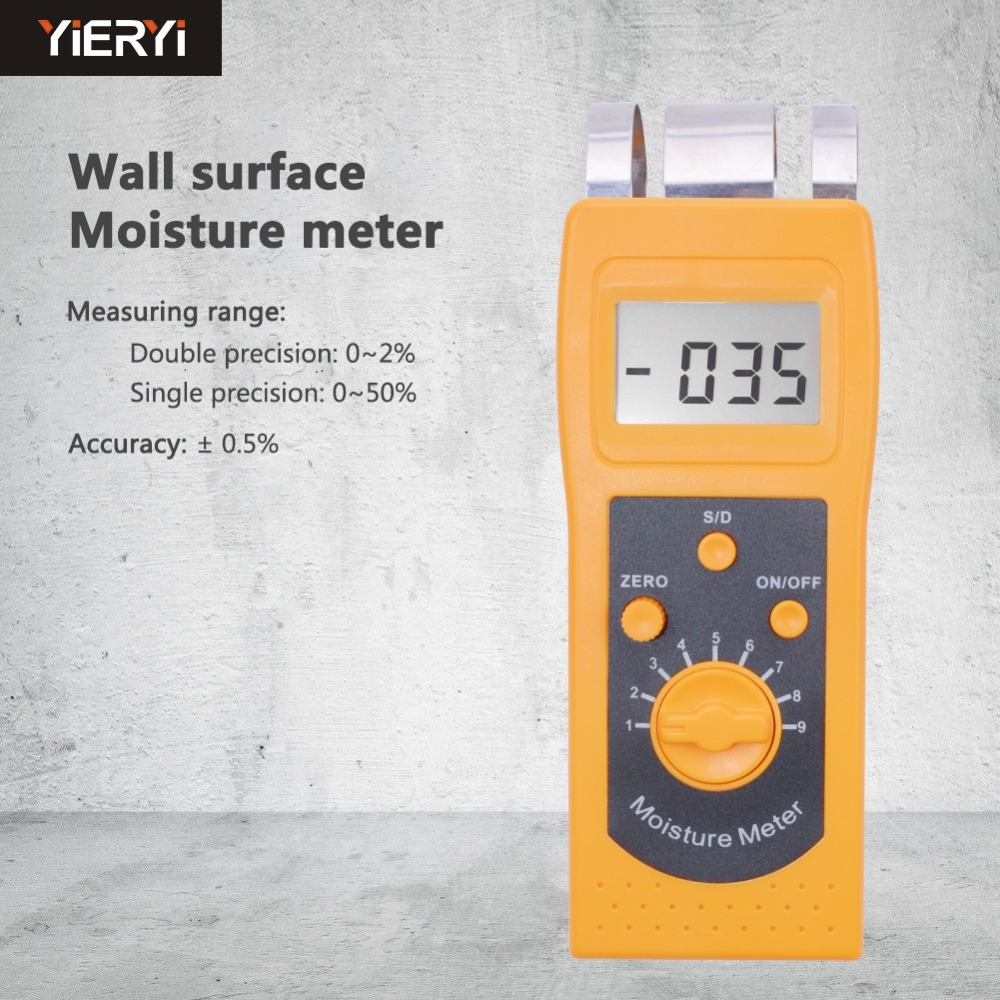 yieryi DM200C Small In Size And Light In Weight Digital Concrete Moisture Meter Concrete Moisture Meter Work principle mc 7806 digital moisture analyzer price with pin type cotton paper building tobacco moisture meter