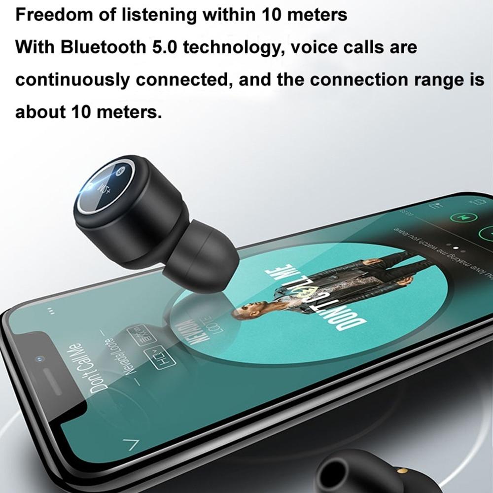 15 м невидимые наушники беспроводные Bluetooth наушники стерео наушники музыка портативный для iPhone шумоподавление мини