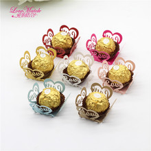 50Pcs Love Laser Cut Candy Box Bar Party Favors Chocolate Cake Accessories Wedding Decoration