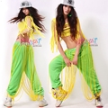 #1813 2016 Neon green Hip hop pants Jazz Dance clothes Punk Women joggers trousers Women Sweatpants Pantalones mujer