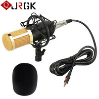 JRGK BM 800 Computer Microphone 3 5mm Wired Condenser Sound Microphones With Shock Mount For Recording