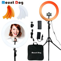 YouTube Photography Ring Light 18 inch Led phone light photo stand selfie Ring Lamp 3200k 5500k with carry bag 240pcs led beads