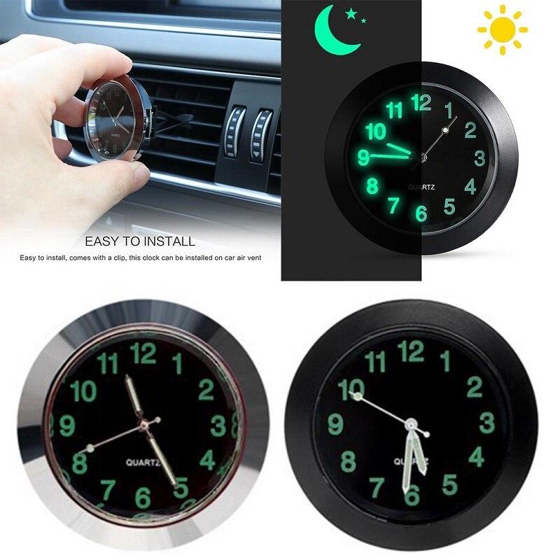 Автомобильные светящиеся часы с зажимом Авто вентиляционное отверстие