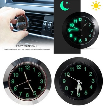 Car Luminous Gauge Clock with clip Auto Air Vent Quartz Clock Beautiful and practical electronic watch styling for benz bmw