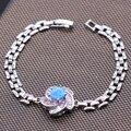 4 moda banhado a ouro azul rosa fogo Opal cristal flor pulseiras pulseiras presente romântico de luxo