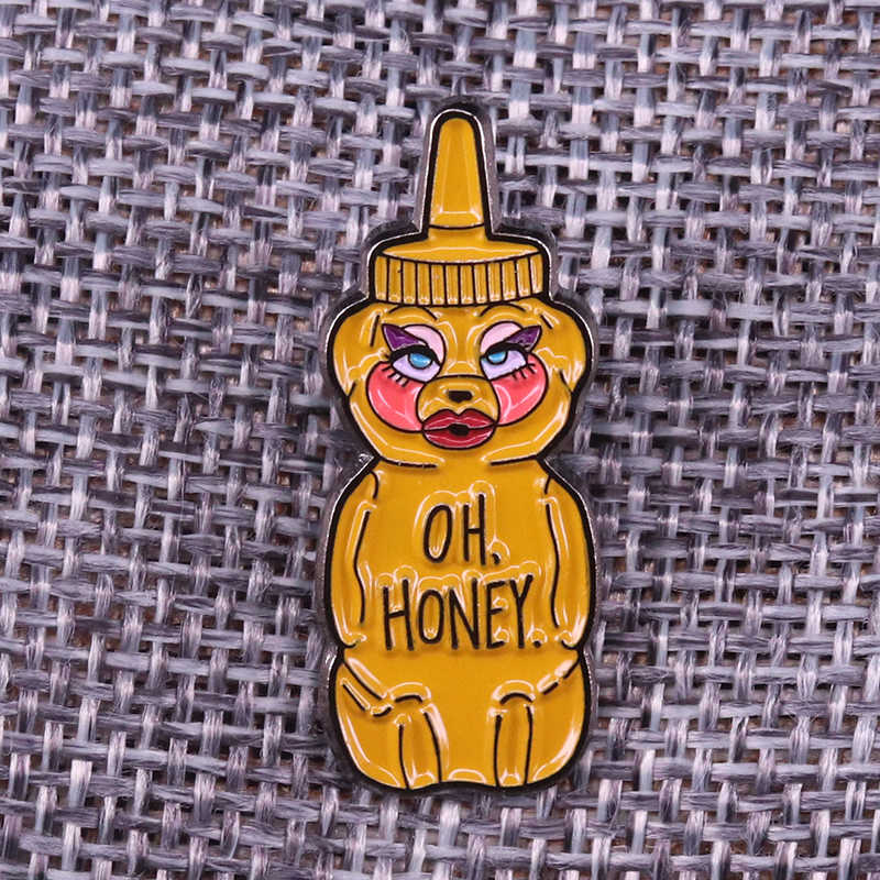 Trixie Mattel Oh Honing Hunty Bee Roze Pin Rupaul Slepen Ras/Drag Queen Badge Emaille Pin
