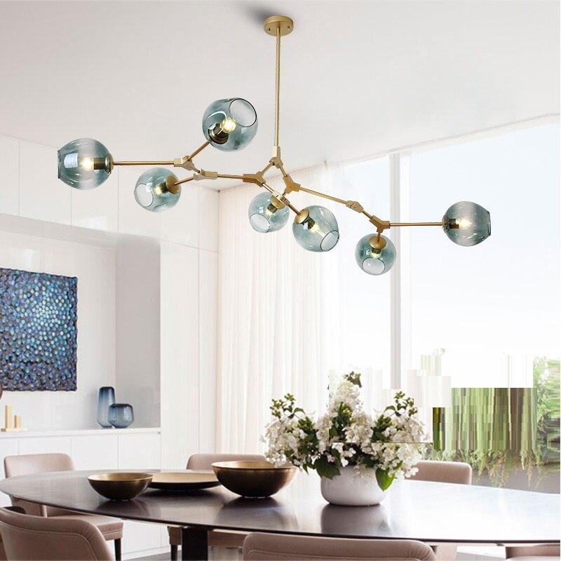 Luz pingente de vidro moderno nordic sala jantar cozinha luz designer pendurado lâmpadas lustre iluminação pingente vidro moderna sala