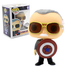 Funko Pop Film Marvel Avengers Endgame Stan Lee Captain America Action Figure Koleksi Model Mainan untuk Anak-anak Natal Hadiah(China)