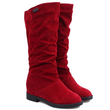 2018 new boots children's autumn and winter flat bottom plus velvet high boots fashion casual long section warm women's boots