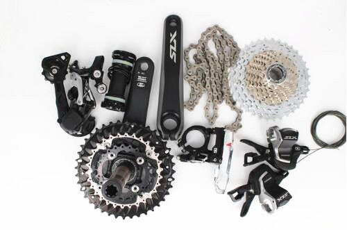 Shimano SLX M7000 upgrade M670 M675 3x10-speed MTB Bike 7pcs Group set Groupset 170mm SLX 30 speed bicycle mtb 3x10 30 speed front rear shifter derailleur groupset for shimano m610 m670 m780 system