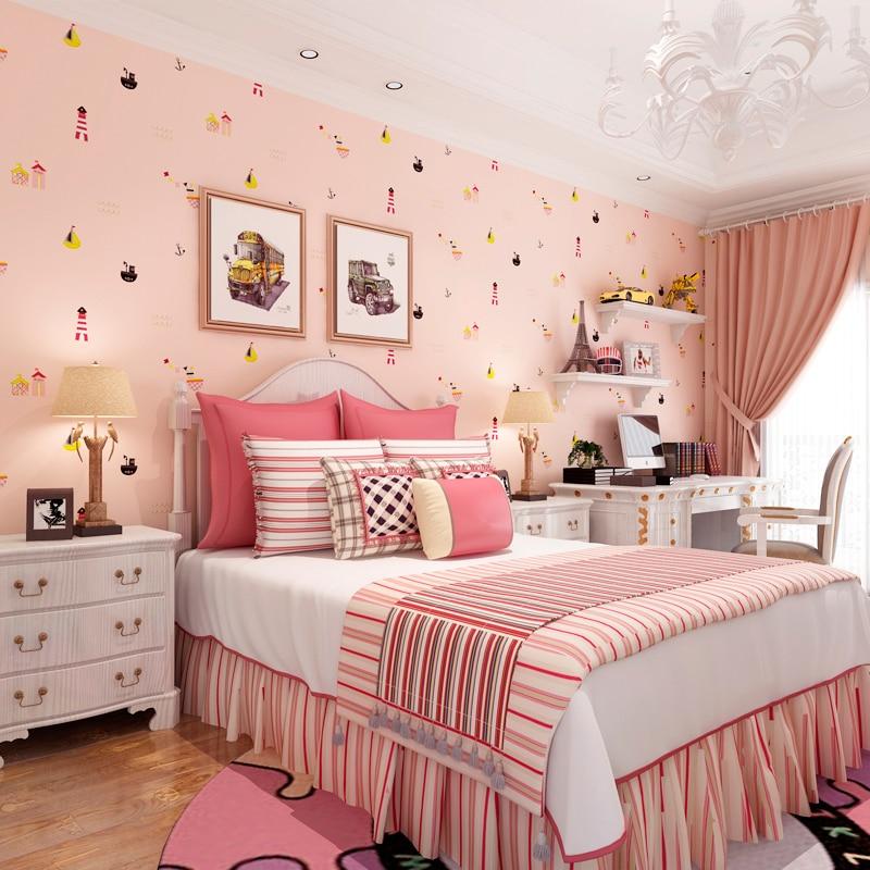 Children Room Wallpaper Non woven Wallpaper Mediterranean Style Warm ...