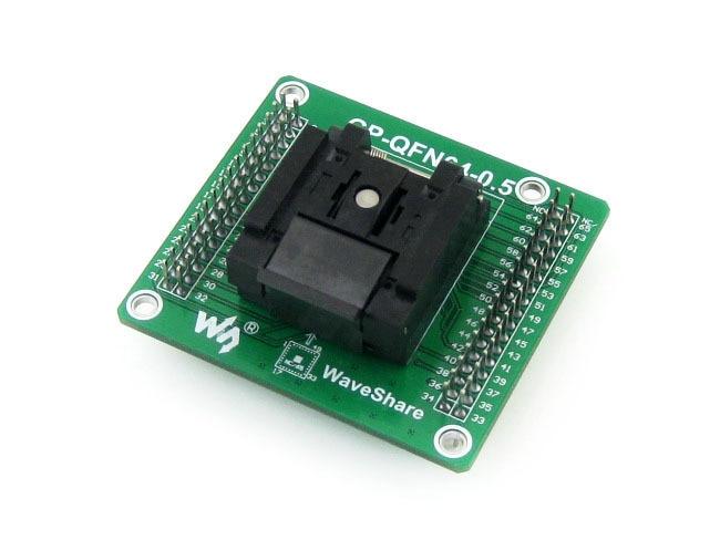 QFN-64BT-0.5-01 with PCB QFN64 MLF64 MLP64 Enplas  Test Socket Programming Adapter 0.5mm Pitch = GP-QFN64-0.5-B