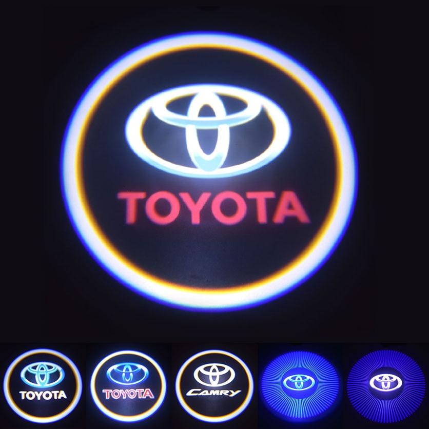 Super Bright Auto Car Welcome Light Corolla Camry Logo Projector Lamp Door Decoration Light 3D Night Signal Bulb Shadow Lighting