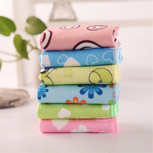 1/6Pcs Baby Soft Microfiber Square Small Towel Cartoon Portable Dry Children Face Bath Beach Cleaning