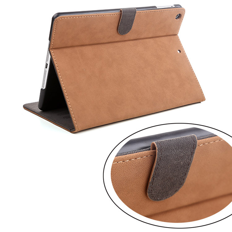 Luxury Tablet Case For New ipad 2017 2018 Fashion Retro Matte PU Leather Folding Folio Stand Case Cover For ipad Air 1 Air 2 (9)