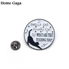 Homegaga amici tv show Divertente lettera gatto nero di Zinco perni di legame badge para borsa camicia di vestiti scarpe zaino spille badge d1510(China)