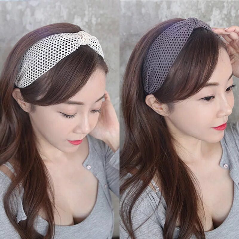 2018 New Simple Knotted Wide Hairband women girls hair head hoop band accessories Lace headband female Holder headwear headdress in Women 39 s Hair Accessories from Apparel Accessories
