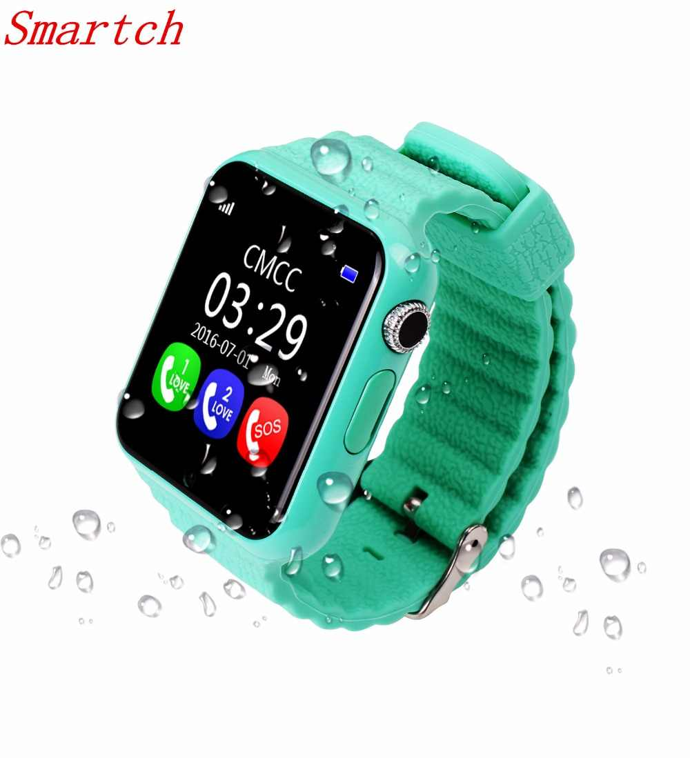 Smartch Children Security Anti Lost GPS Tracker smart watch V7K 1.54'' With camera facebook Kids SOS For Iphone&Android xiaomi P