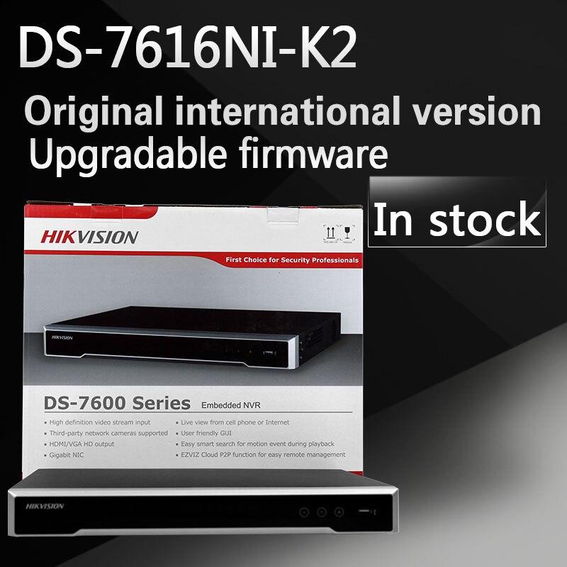 Бесплатная доставка DS-7616NI-K2 английская версия 4 встроенных К H.265, 2 sata NVR не POE, до 8MP камеры