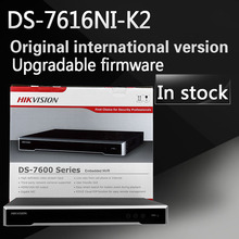 Free shipping DS-7616NI-K2 English version 2SATA 4K 16ch NVR plug & play NVR up to 8MP