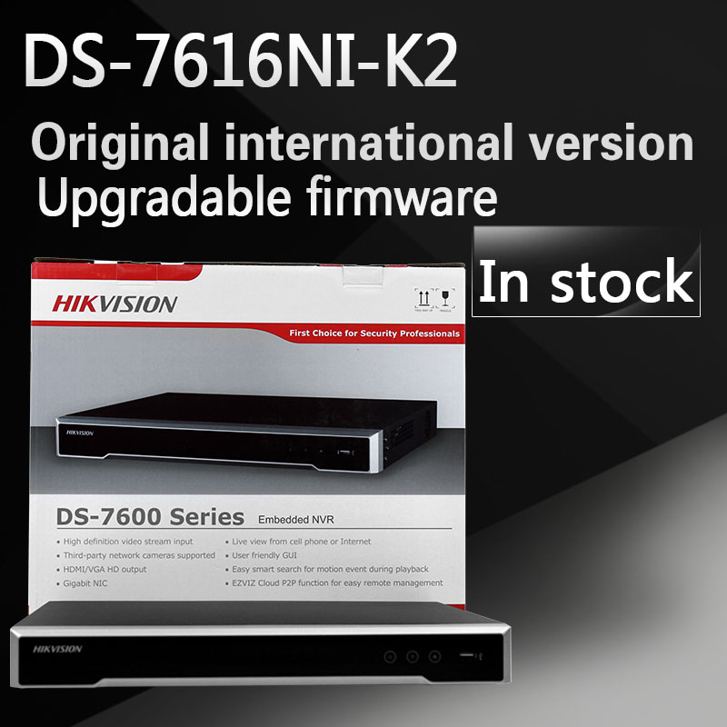 Free Shipping DS 7616NI K2 English Version 2SATA 4K 16ch NVR Plug Play NVR Up To