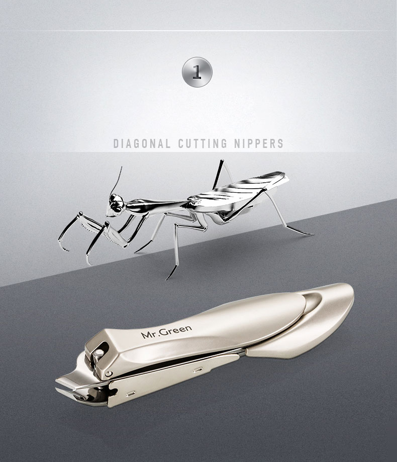 cortador de Unhas Manicure grooming kit Anti-respingo