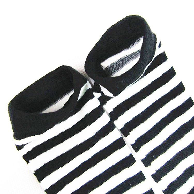Black-White-Striped-Long-Stocking-Women-Warm-Cotton-Over-The-Knee-Socks-Sexy-Thigh-High-Stockings