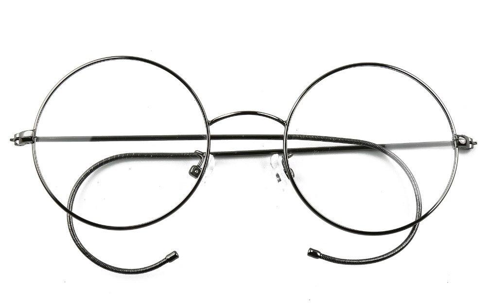 c3cca2122732 Agstum 49mm Antique Vintage Round Glasses Wire Rim Eyeglasses Frame  Spectacles Prescription Optical Rx