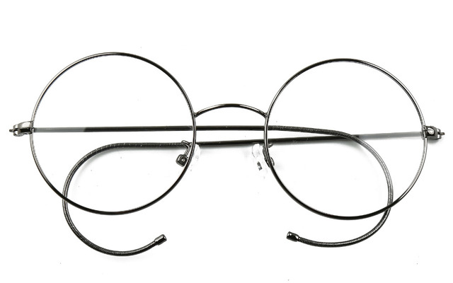 d9179c48902 Agstum 49mm Antique Vintage Round Glasses Wire Rim Eyeglasses Frame  Spectacles Prescription Optical Rx