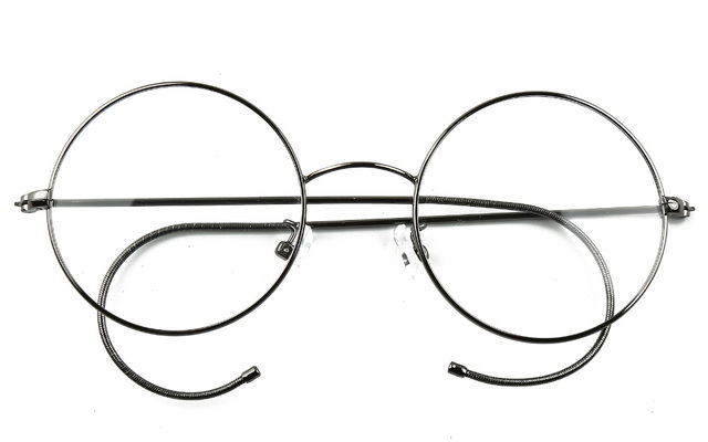 Online Shop Agstum 49mm Antique Vintage Round Glasses Wire Rim ...