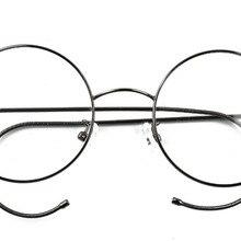 2ef3992924 Agstum 49mm Antique Vintage Round Glasses Wire Rim Eyeglasses Frame  Spectacles