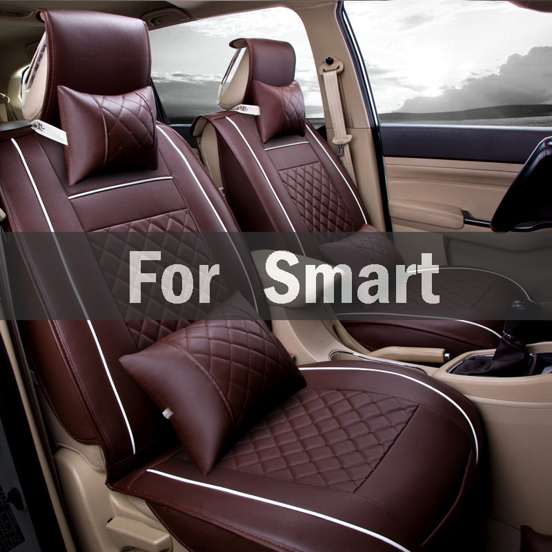 Non Slide Not Moves Seat Pu Leather Universal Car Seat Covers All Models Car Place Styling For Smart Forfour Fortwo Roadster