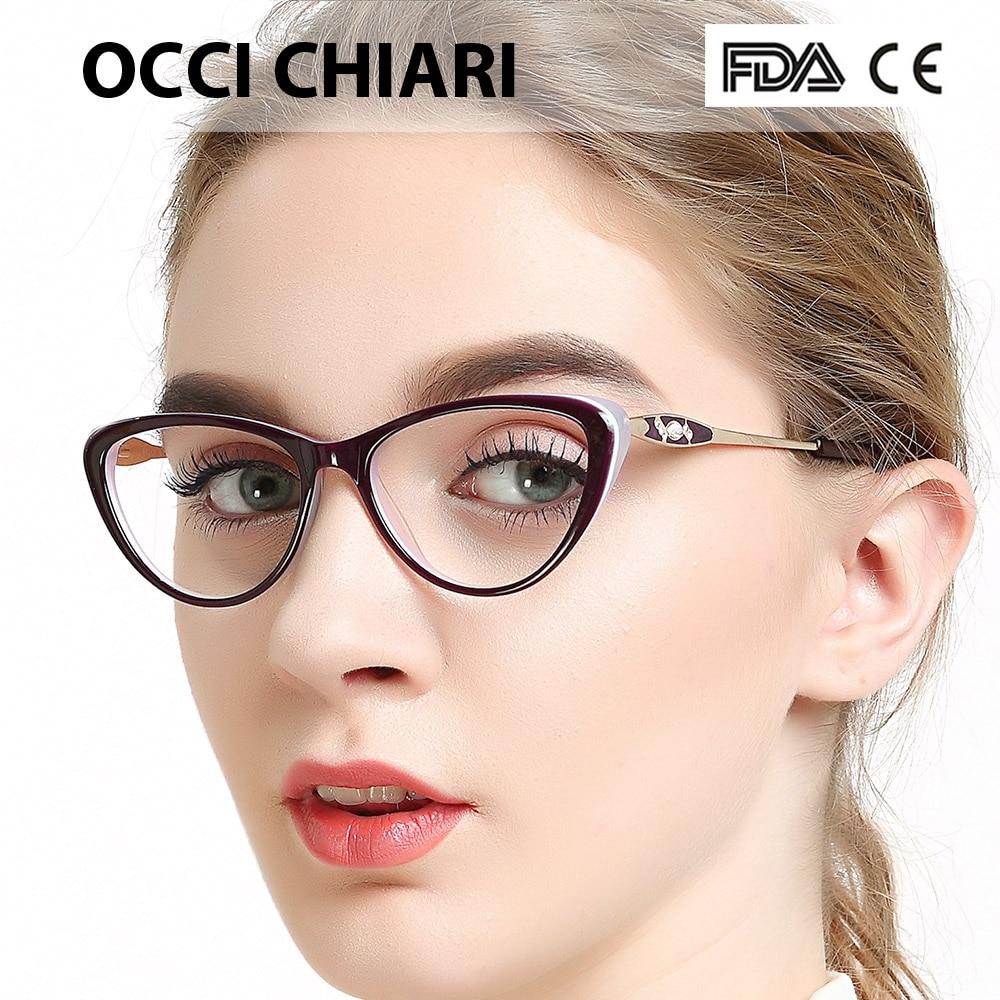 Купить occi chiari женская оправа для очков прозрачные оправы ацетатные