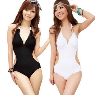 Free Shipping Super Sexy One Piece Swimsuit Padded Slim Ladies Swimwear Beachwear