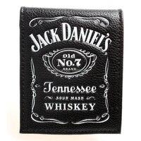 Jack daniels, ragazzi e ragazze studenti personalità della moda breve sezione trasversale 2 fold wallet DFT-1336