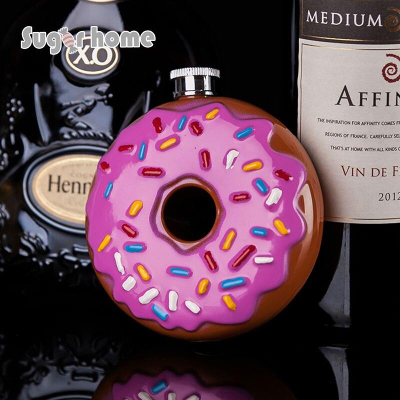 Vente chaude Portable Beignet Flacon 10 oz de Qualité Alimentaire En Acier Inoxydable Hip Flask verres D'alcool D'alcool Whisky Bouteille cadeaux