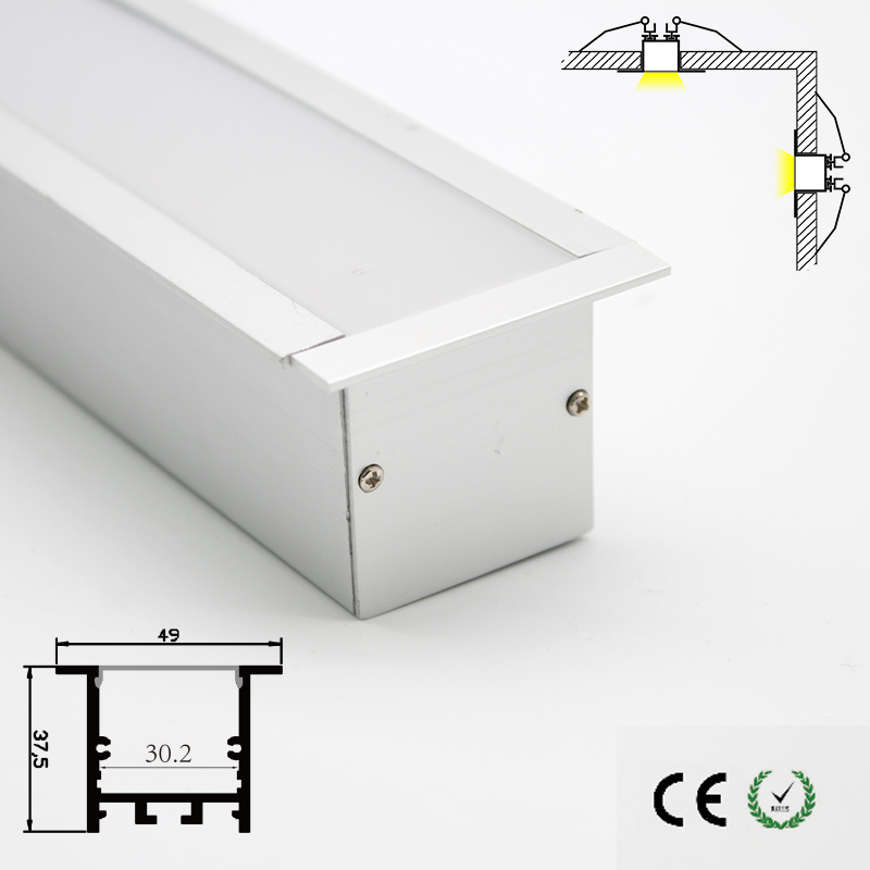High quality heavy and strong aluminum led channels recessed ceiling lighting wall lighting customized length available