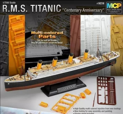 Assembled Ship 14214 Color Separation Model Titanic Model Ship