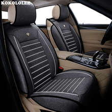 New Luxury lino seggiolino auto Universale della copertura per hyundai Elantra solaris tucson veloster Zhiguli getz creta i20 i30 ix35 i40 auto