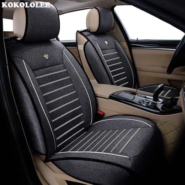 新しい高級亜麻ユニバーサルカーシート現代エラントラ solaris ツーソン Zhiguli veloster ゲッツ creta i20 i30 ix35 i40 車