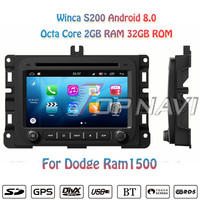 Topnavi 7 S200 Octa Core Android 8.0 Car DVD Multimedia Player Video for Dodge Ram1500 Stereo Radio GPS Navigation Audio 2 Din