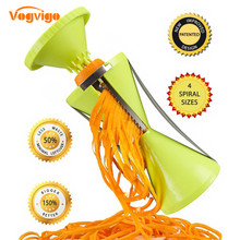 VOGVIGO 4 Blades Vegetable for kitchen Slicer Spiralizer Spiral Vegetable Slicer Peeler for Carrot Salad Pizza
