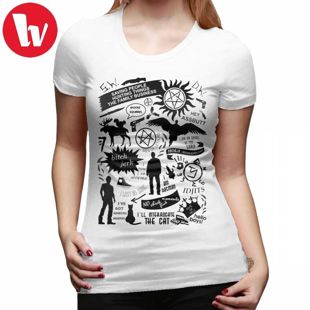 56e90a9d7e Hell T-Shirt Supernatural Items T Shirt Graphic XXL Women tshirt O Neck  White 100