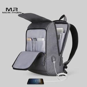 Image 4 - Mark Ryden Man Backpack USB Recharging 15.6 inch laptop School Bag For Boy Male Travel Mochila Waterproof