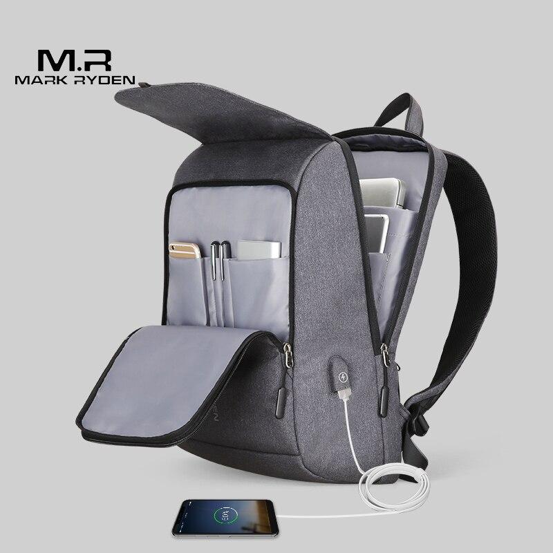 599b9eb1ea Comprare Mark Ryden Uomo Zaino di Ricarica USB da 15.6 pollici del computer  portatile Sacchetto di Scuola Per Il Ragazzo di Sesso Maschile di Viaggio  ...