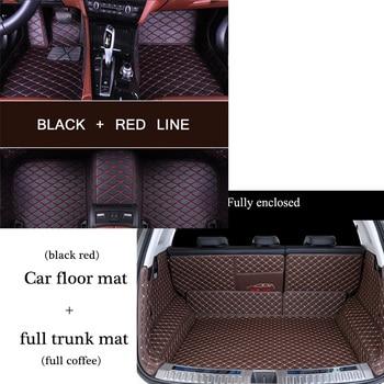 Custom PU Leather car trunk mat and floor cushion combination pack for VOLKSWAGEN Bora Polo Golf CC Car Passat Toureg Touran