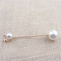 summer new in hot unisex antlers simulated pearl brooch female