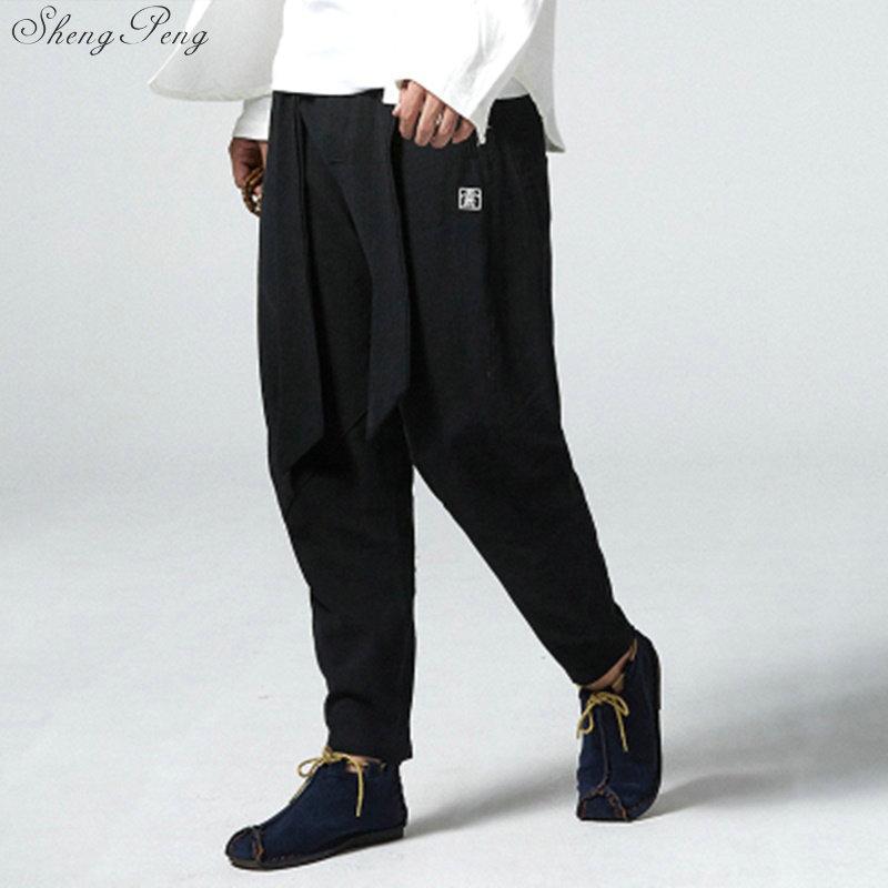 Штаны в китайском стиле Брюс Ли, штаны для кунг фу, китайский магазин одежды, традиционная китайская одежда для мужчин, Шанхай, Тан Q052|Штаны| | АлиЭкспресс