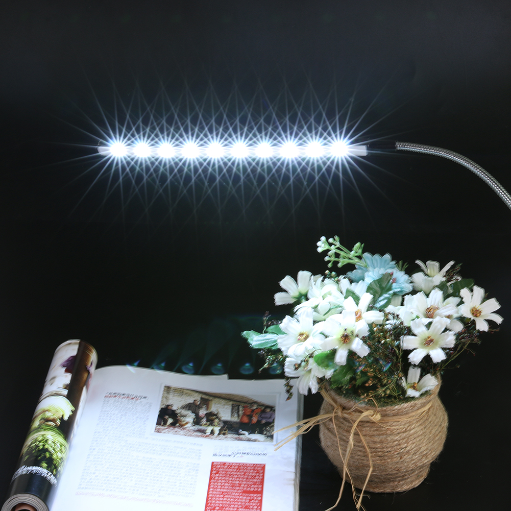 10 LED Flexible USB Light Ultra Bright LED Book Lights Table Lamp for Laptop Notebook PC Computer Rotate 360 Reading Lamp ultra bright 1 2w leds usb lamp for notebook computer laptop pc portable flexible metal neck led usb light foldable