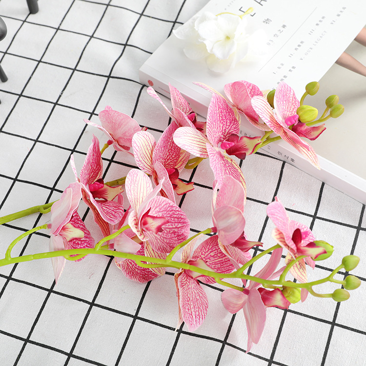 Klonca Natural Fresh 3D Printed Film 70CM 1PC Artificial Flower Fake Flower Butterfly Orchid Home Living Room Decoration in Artificial Dried Flowers from Home Garden